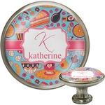 Dessert & Coffee Cabinet Knob (Silver) (Personalized)