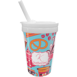 Dessert & Coffee Sippy Cup with Straw (Personalized)