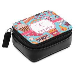 Dessert & Coffee Small Leatherette Travel Pill Case (Personalized)