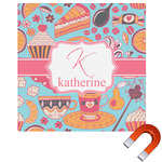Dessert & Coffee Square Car Magnet (Personalized)