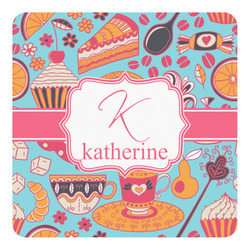 Dessert & Coffee Square Decal (Personalized)