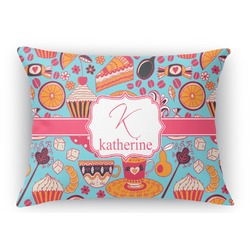 Dessert & Coffee Rectangular Throw Pillow Case (Personalized)