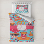 Dessert & Coffee Toddler Bedding w/ Name and Initial