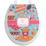 Dessert & Coffee Toilet Seat Decal (Personalized)