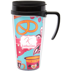 Dessert & Coffee Travel Mug with Handle (Personalized)