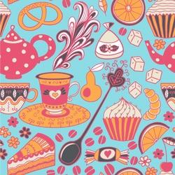 "Dessert & Coffee Wallpaper & Surface Covering (Peel & Stick 24""x 24"" Sample)"