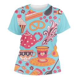 Dessert & Coffee Women's Crew T-Shirt (Personalized)