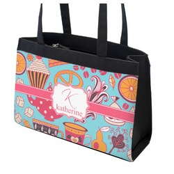 Dessert & Coffee Zippered Everyday Tote (Personalized)