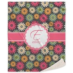 Daisies Sherpa Throw Blanket (Personalized)