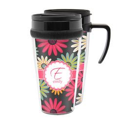 Daisies Acrylic Travel Mugs (Personalized)