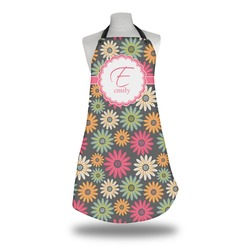 Daisies Apron w/ Name and Initial