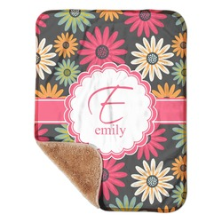 """Daisies Sherpa Baby Blanket 30"""" x 40"""" (Personalized)"""