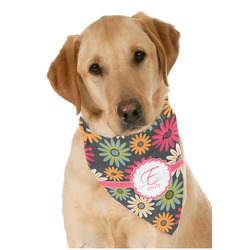 Daisies Dog Bandana Scarf w/ Name and Initial