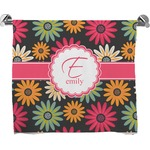 Daisies Full Print Bath Towel (Personalized)