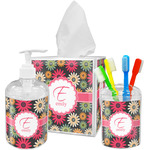 Daisies Acrylic Bathroom Accessories Set w/ Name and Initial