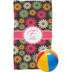 Daisies Beach Towel (Personalized)