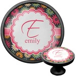 Daisies Cabinet Knob (Black) (Personalized)