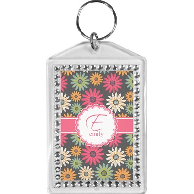 Daisies Bling Keychain (Personalized)