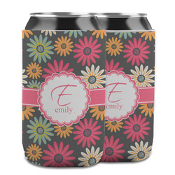Daisies Can Cooler (12 oz) w/ Name and Initial