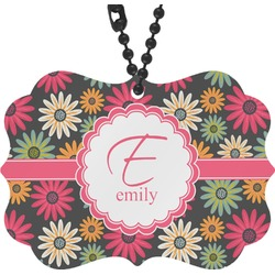 Daisies Rear View Mirror Charm (Personalized)