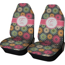 Daisies Car Seat Covers (Set of Two) (Personalized)