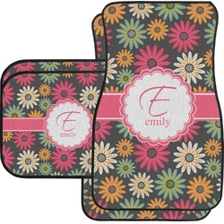 Daisies Car Floor Mats Set - 2 Front & 2 Back (Personalized)