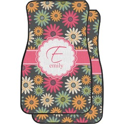 Daisies Car Floor Mats (Front Seat) (Personalized)