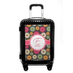 Daisies Carry On Hard Shell Suitcase (Personalized)