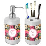 Daisies Bathroom Accessories Set (Ceramic) (Personalized)