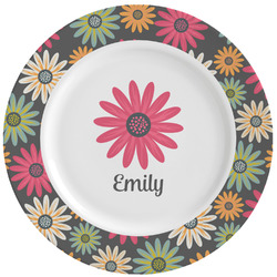 Daisies Ceramic Dinner Plates (Set of 4) (Personalized)