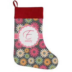 Daisies Holiday / Christmas Stocking (Personalized)