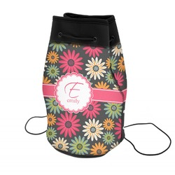 Daisies Neoprene Drawstring Backpack (Personalized)