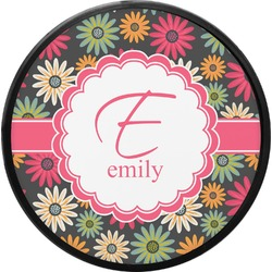 Daisies Round Trailer Hitch Cover (Personalized)
