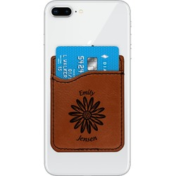 Daisies Leatherette Phone Wallet (Personalized)