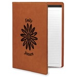Daisies Leatherette Portfolio with Notepad (Personalized)