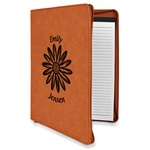 Daisies Leatherette Zipper Portfolio with Notepad (Personalized)