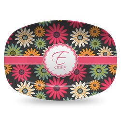 Daisies Plastic Platter - Microwave & Oven Safe Composite Polymer (Personalized)