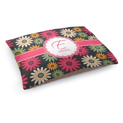 Daisies Dog Pillow Bed (Personalized)
