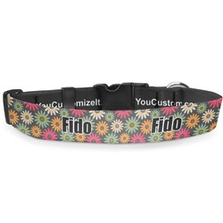 Daisies Deluxe Dog Collar (Personalized)