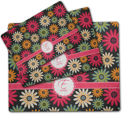 Daisies Dog Food Mat w/ Name and Initial
