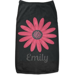Daisies Black Pet Shirt (Personalized)