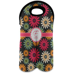 Daisies Wine Tote Bag (2 Bottles) (Personalized)