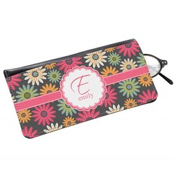 Daisies Genuine Leather Eyeglass Case (Personalized)