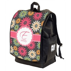 Daisies Backpack w/ Front Flap  (Personalized)