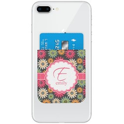 Daisies Genuine Leather Adhesive Phone Wallet (Personalized)