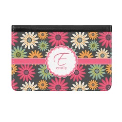 Daisies Genuine Leather ID & Card Wallet - Slim Style (Personalized)