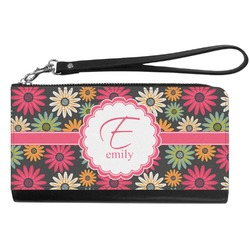 Daisies Genuine Leather Smartphone Wrist Wallet (Personalized)