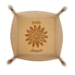 Daisies Genuine Leather Valet Tray (Personalized)