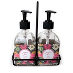 Daisies Soap & Lotion Dispenser Set (Glass) (Personalized)