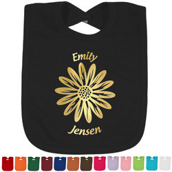 Daisies Foil Baby Bibs (Personalized)